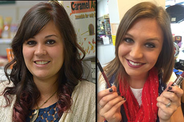 We offer free makeovers. Call and schedule yours today, or just stop in and try before you buy!